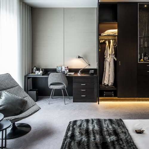 Disabled Bedroom Desk and Wardrobe -