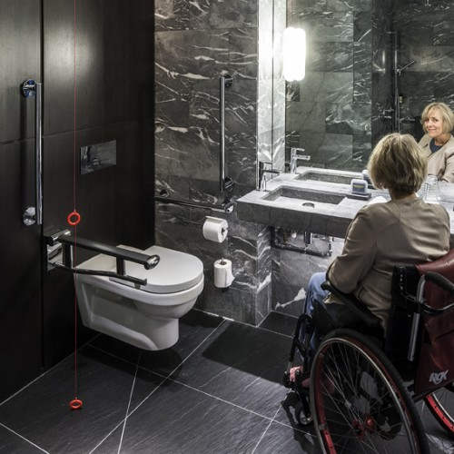 Disabled Bathroom and Sink -
